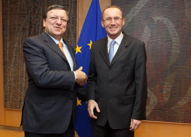 Visit of Othmar Karas, Vice-President of the EP, to the EC