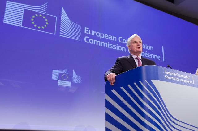 Press conference by Michel Barnier, Member of the EC, on the proposal of the Single Resolution Mechanism by the Commission