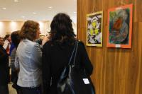 Women visiting the poster exhibition