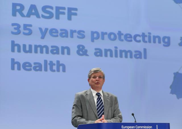 Press conference by Tonio Borg, member of the EC, on the 35th anniversary of the Rapid Alert System for Food and Feed (RASFF)
