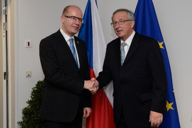 Meeting between Bohuslav Sobotka, Czech Prime Minister, and Jean-Claude Juncker, President-elect of the EC