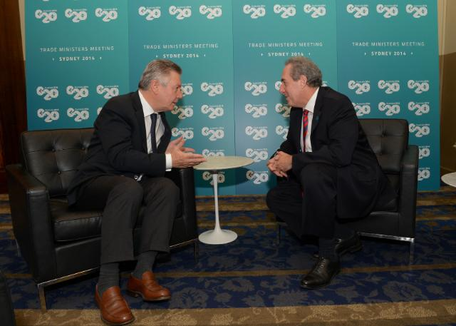 Meeting between Michael Froman, US Trade Representative, and Karel De Gucht, Member of the EC