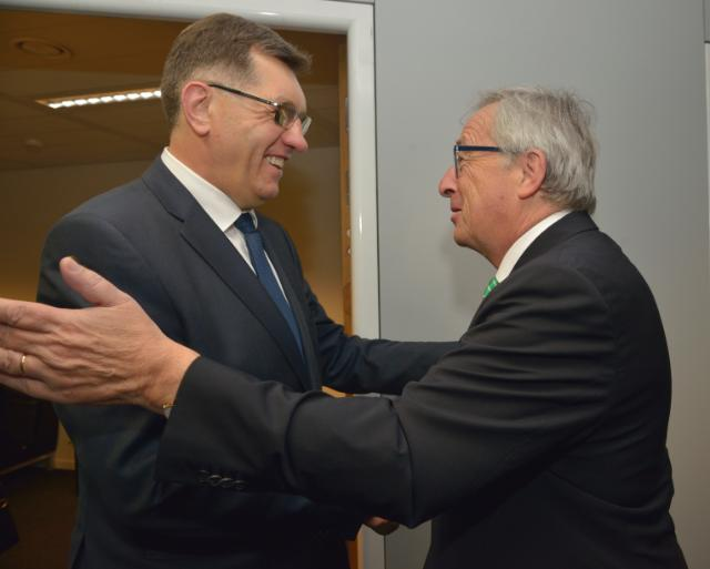Meeting between Algirdas Butkevičius, Lithuanian Prime Minister, and Jean-Claude Juncker, President-elect of the EC