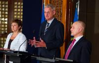 Hussain al-Shahristani, Carl Bildt and Kristalina Georgieva (from right to left)