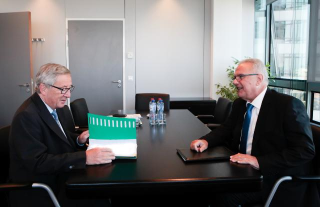Meeting between Neven Mimica, Member of the EC, and Jean-Claude Juncker, President-elect of the EC
