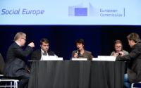 "Illustration of ""Participation of Marianne Thyssen, Member of the EC, at the 4th Annual Convention of the European Platform..."