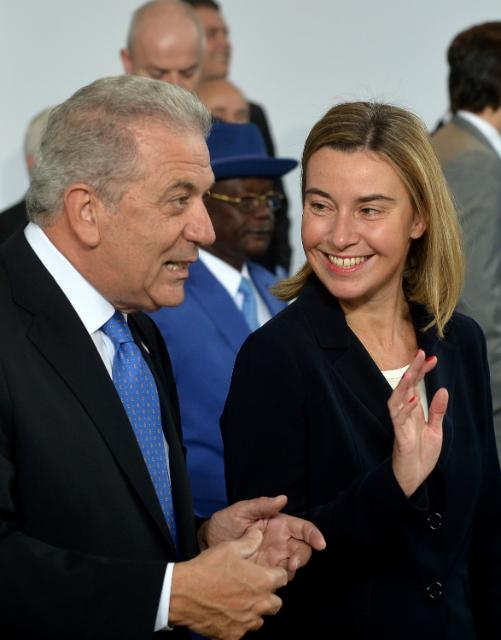 Visit of Federica Mogherini, Vice-President of the EC, and Dimitris Avramopoulos, Member of the EC, to Italy