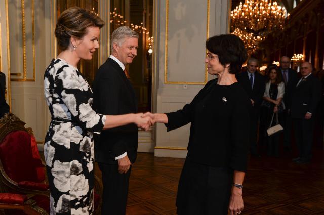 Présentation des voeux de nouvel an de la Commission Juncker à Philippe, roi des belges