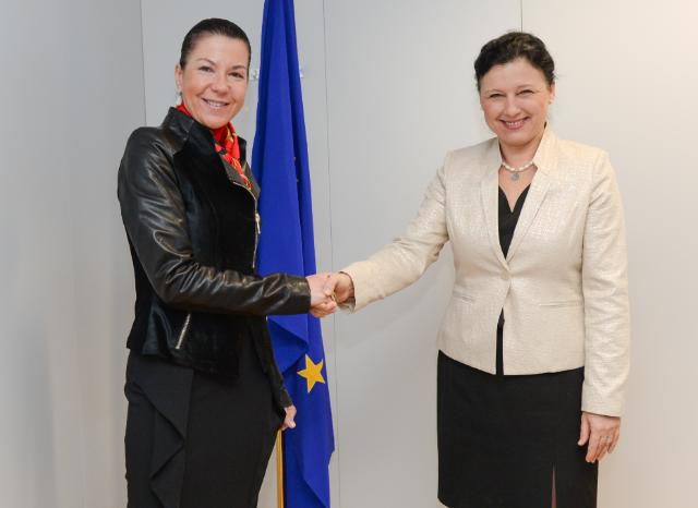 Visit of Michèle Coninsx, President of Eurojust, to the EC