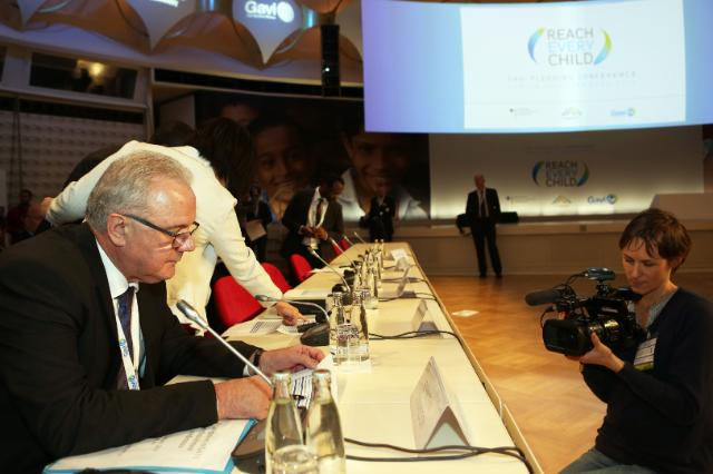GAVI Pledging conference 2015 of the Vaccine Alliance, in Berlin, with the participation of Neven Mimica, Member of the EC