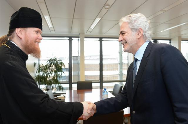 Visit of Yevstratiy Zorya, Archbishop of the Ukrainian Orthodox Church of Kyiv Patriarchate, to the EC