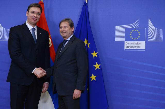 Visite d'Aleksandar Vučić, Premier ministre serbe, à la CE