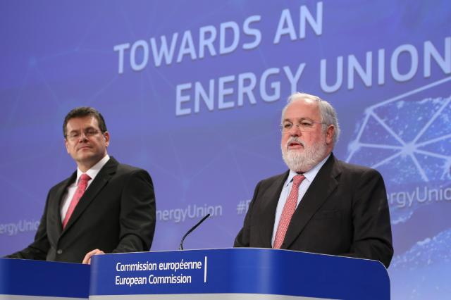 Joint press conference by Maroš Šefčovič, Vice-President of the EC, and Miguel Arias Cañete, Member of the EC, on the strategy of the EC to achieve a resilient Energy Union with a forward-looking climate change policy
