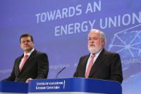"Illustration of ""Joint press conference by Maroš Šefčovič, Vice-President of the EC, and Miguel Arias Cañete, Member of the..."