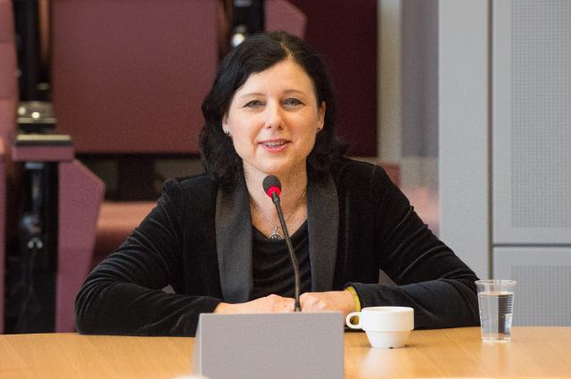 "Illustration of ""Vĕra Jourová receives a group of Czech secondary school teachers"""