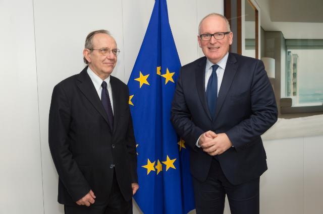 Visite de Pietro Carlo Padoan, ministre italien de l'Économie et des Finances, à la CE
