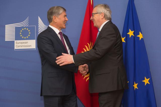 Jean-Claude Juncker receives Almazbek Atambayev, President of Kyrgyzstan