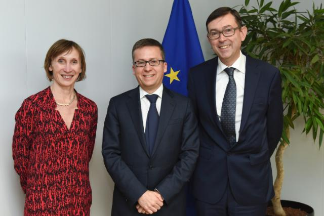 Visit of Dirk Vandenberghe, President of Eurometaux, and Annick Carpentier, Director of Sustainability of Eurometaux, to the EC