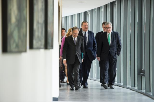 Visit of Jean-Claude Juncker, President of the EC, to the Court of Auditors