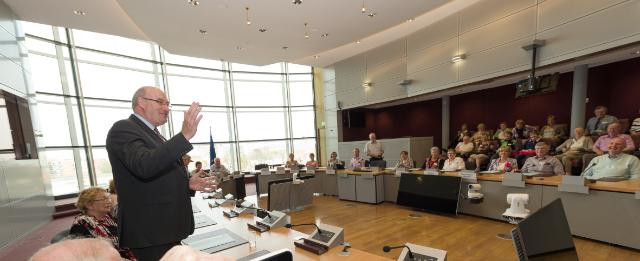 Visite à la CE d'un groupe d'anciens membres de l'électorat de Phil Hogan, membre de la CE