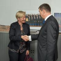 """Illustration of """"Visit of a delegation from the European Broadcasting Union to the EC"""""""