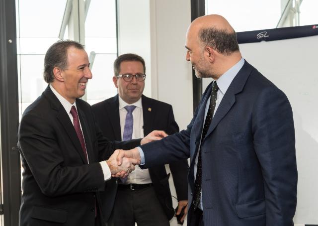 Visite de José Antonio Meade, ministre mexicain des Affaires étrangères, à la CE