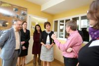 """Illustration of """"Visit of Marianne Thyssen, Member of the EC, to the social rehabilitation centre 'L'Arche d'Avenirs', in..."""