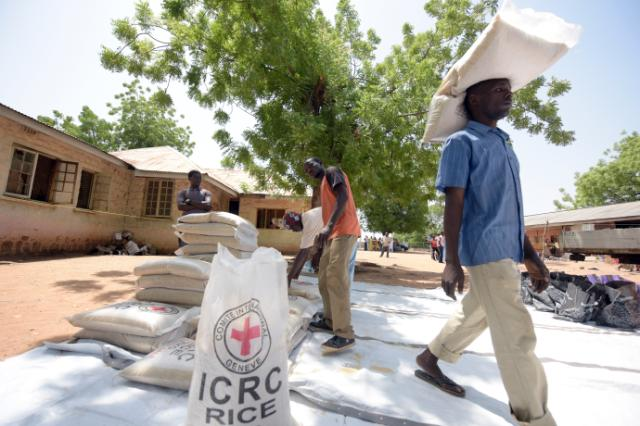 Reportage in a displaced persons camp in Yola in Nigeria