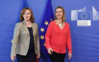 Visite de Natalia Gherman, Première ministre moldave faisant fonction et ministre des Affaires étrangères et de l'Intégration européenne, à la CE