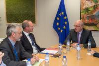 Visite de Simon Coveney, ministre irlandais de l'Agriculture, de l'Alimentation et de la Marine; ministre de la Défense, à la CE