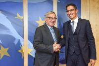 Visite d'Arno Kompatscher, gouverneur du Tyrol du Sud, à la CE