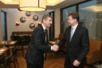 Visit of Valdis Dombrovskis, Vice-President of the EC, to Prague