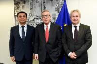 Visit of Özdil Nami, Turkish Cypriot Negotiator, and Andreas Mavroyiannis, Ambassador and Negotiator of the Greek Cypriot Community for Cyprus problem, to the EC