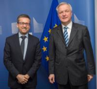 Visite d'Olli Rehn, ministre finlandais des Affaires économiques, à la CE