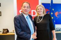 Rencontre entre Corina Creţu, membre de la CE, et Gianni Pitella, membre du PE