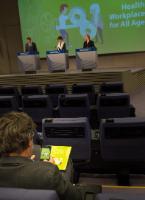 Conférence de presse conjointe de Marianne Thyssen, membre de la CE, et Christa Sedlatschek, directrice de l'Agence européenne pour la sécurité et la santé au travail (EU-OSHA), sur le lancement de la campagne