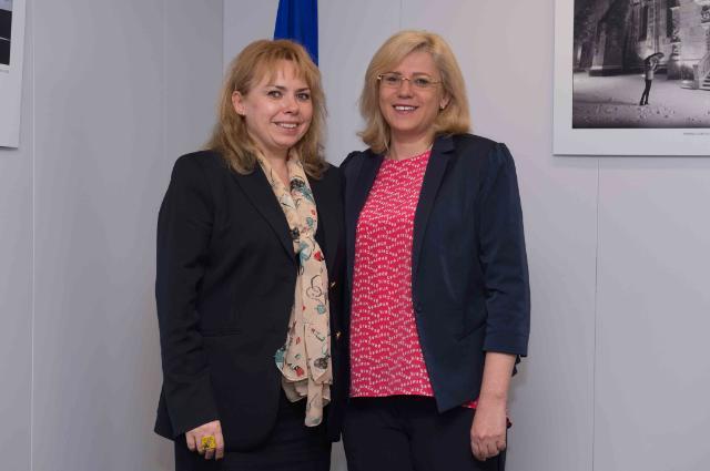 Visite d'Anca Dana Dragu, ministre roumaine des Finances publiques, à la CE