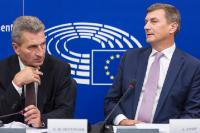 Joint press conference by Andrus Ansip, Vice President of the EC, and Günther Oettinger, Member of the EC, on modern EU copyright rules