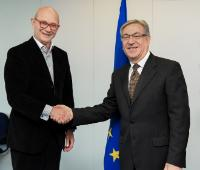 Visit of Pascal Lamy, Honorary President of Notre Europe - Jacques Delors Institute, to the EC