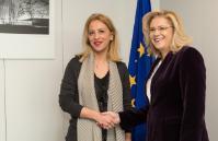 Visite de Rena Dourou, gouverneure régionale de l'Attique, à la CE