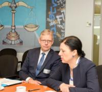 Visite de Pavel Zeman, procureur général suprême de la République tchèque, et Jean-François Thony, procureur général de la cour d'appel de Colmar, à la CE