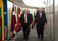 Visite de Jeremy Corbyn, leader du Parti travailliste britannique et chef de l'opposition britannique, à la CE