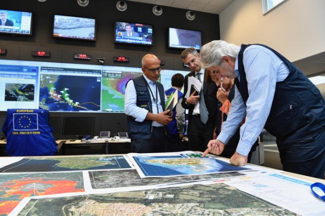 Visit of Christos Stylianides, Member of the EC, to the EU Emergency Response Coordination Centre