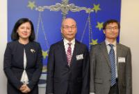 Visite de Lee Hyo-sung, président de la Korea Communications Commission et Jeong Hyun-cheol, vice-président de la Korea Information Security Agency (KISA), à la CE