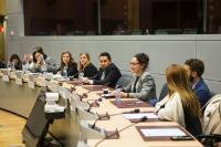 Visit of students from George Washington University (GWU) and University of Navarra, to the EC.