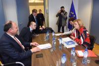 Visite de Willy Borsus, ministre-président du gouvernement wallon, à la CE
