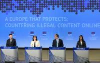 Conférence de presse sur les mesures visant à lutter contre le contenu illégal en ligne
