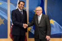 Visite de Tamim bin Hamad Al-Thani, émir du Qatar, à la CE