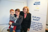 Visit to the nursery 'Elmer in de stad' by Corina Creţu, Member of the EC, on Women's Day
