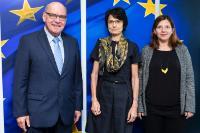 Visite de Daniel Termont, bourgmestre de Gand et président d'Eurocities, à la CE